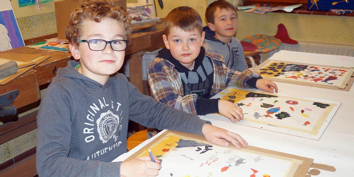 Kinder und Kunst -